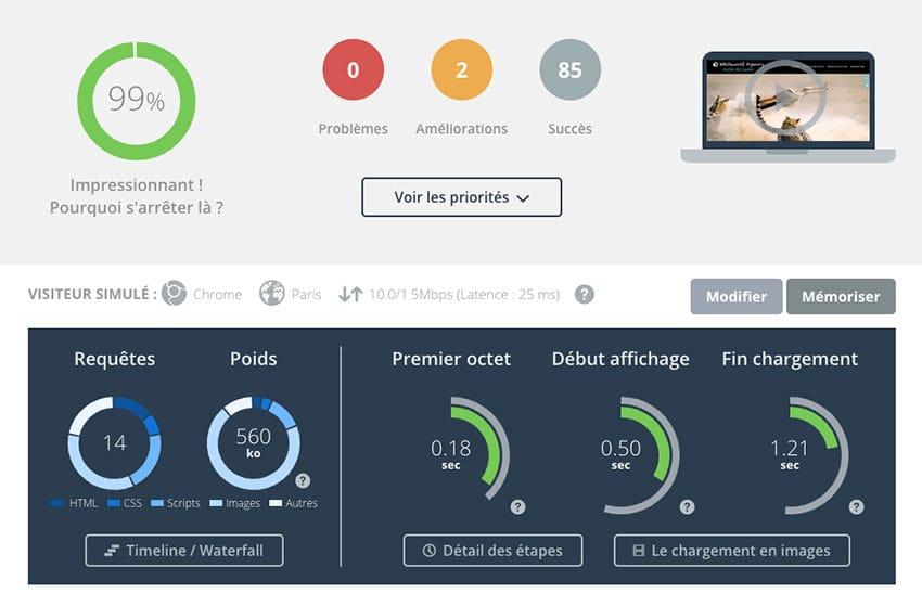 dareboost : analyse vitesse site web
